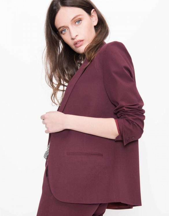 Veste blazer Blair Color - BORDEAUX FONCE