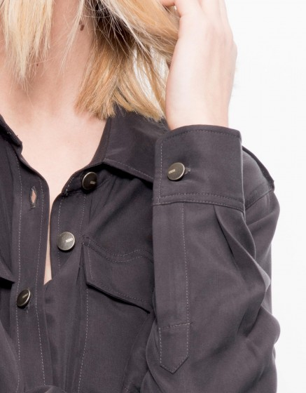 Flow shirt Carlyne - CARBONE