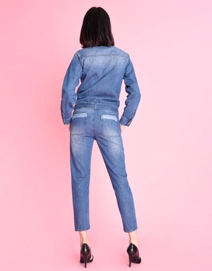 Combinaison en jean Leo - DENIM BLUE