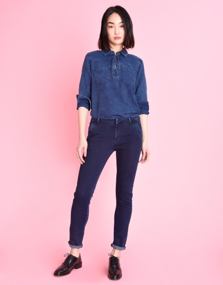 Pantalon chino Sandy Fleece - INDIGO