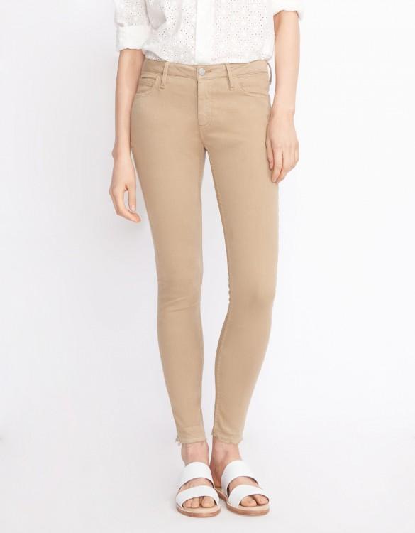 Pantalon skinny cropped Lily Color - MOKA