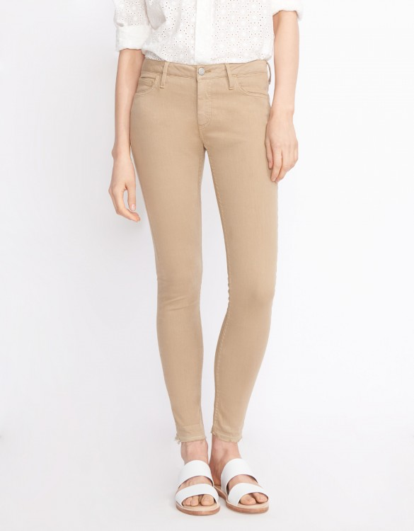 Skinny cropped trousers Lily Color - MOKA