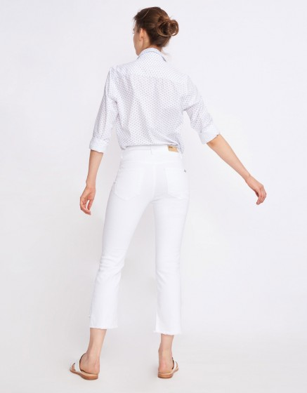 Jean straight cropped Lottie - DENIM WHITE
