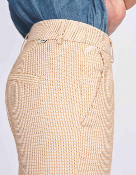 Pantalon cigarette Lizzy Fancy - TILES YELLOW