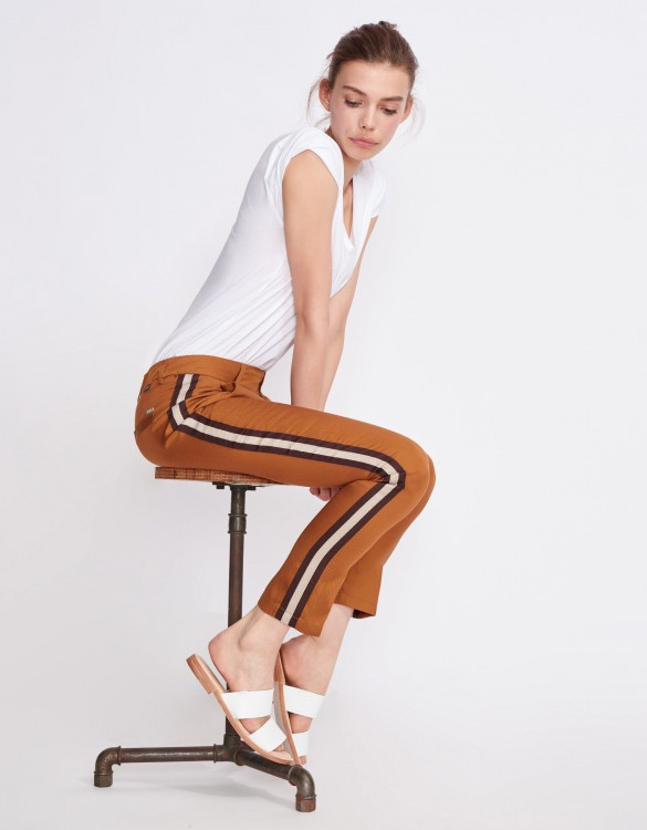 Pantalon cigarette Lizzy Herring - BROWN SUGAR