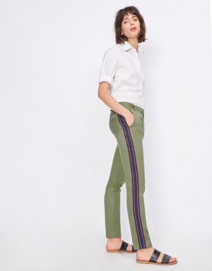 Pantalon cigarette Lizzy Herring - MILITARY GREEN