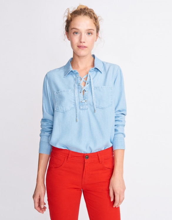 Chemise en jean Caty - LIGHT BLUE