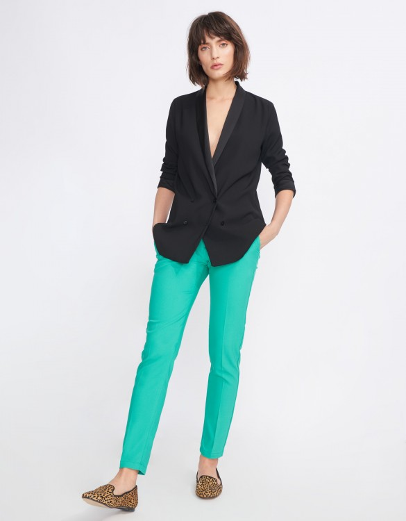 Pantalon Cigarette Lizzy Color - POOL GREEN