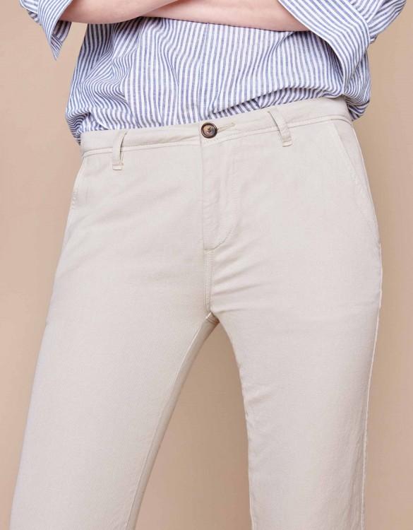 Chino trousers Pam Linen - CREAM