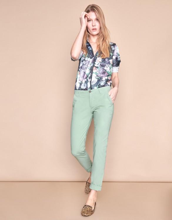 Pantalon chino Pam - VERT JADE