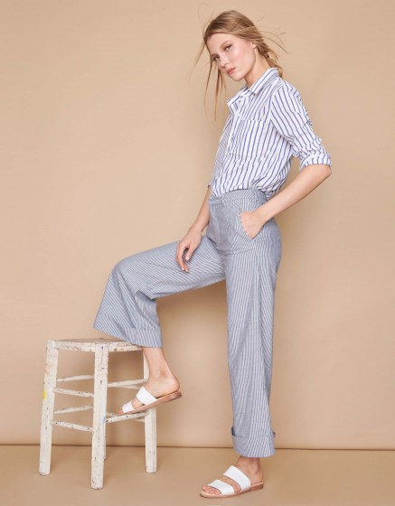Wide cropped trousers Paolo - MEZZO