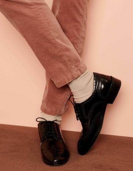 Pantalon cigarette Lizzy Velvet - DUSTY PINK