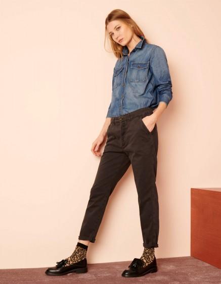 Pantalon chino Scott - CARBONE