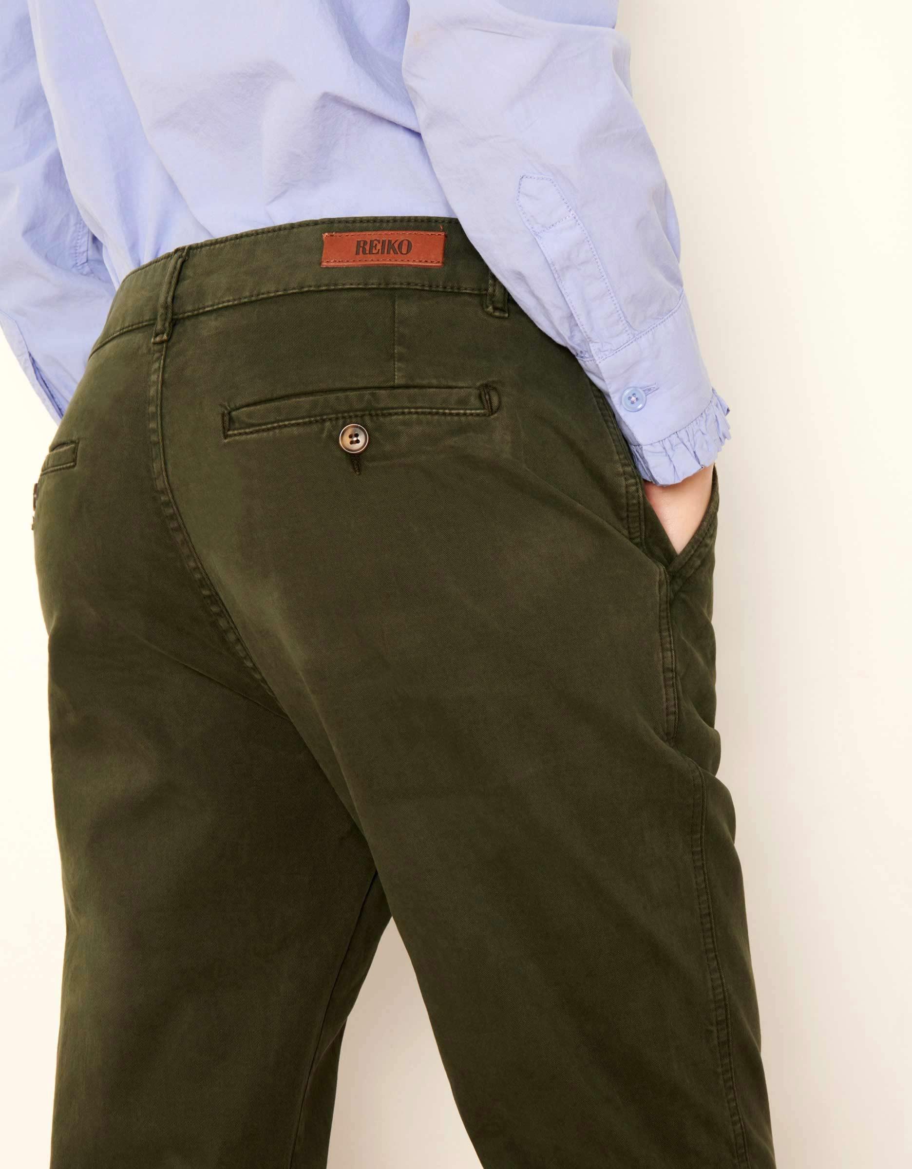 Vert Pantalon De Scott Chrome Femme Reiko Pour Chino Tapered c3TFuJlK1