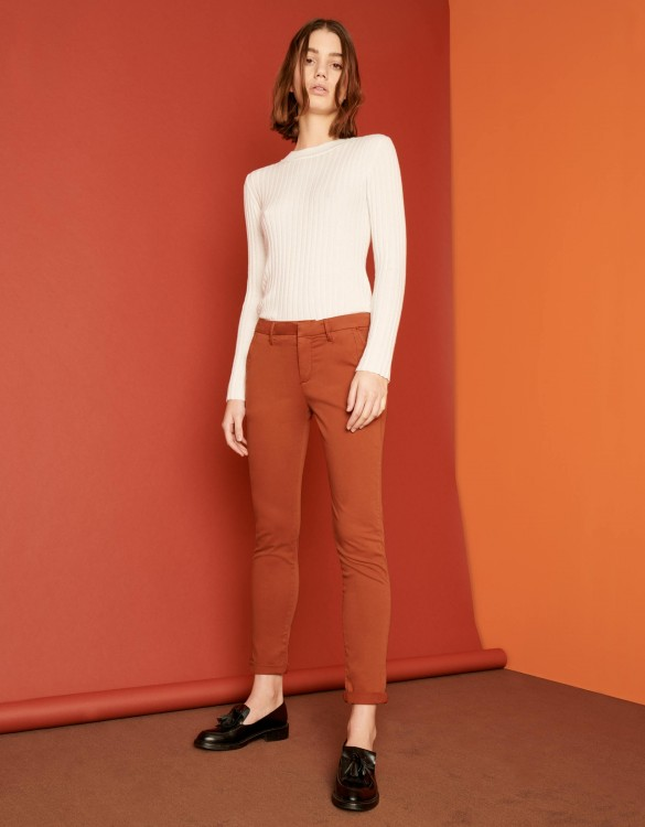 Pantalon chino Sandy 2 Basic - BRIQUE