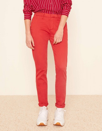 Pantalon chino Sandy 2 Basic - BURNT RED