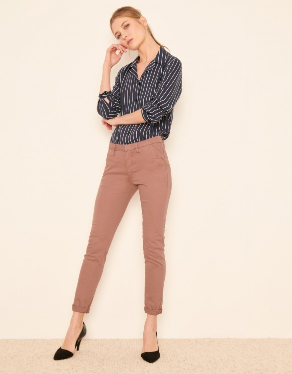 Pantalon chino Sandy 2 Basic - DUSTY PINK