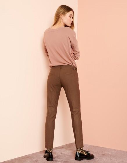 Pantalon cigarette Lizzy Fancy - BROWN BERRY