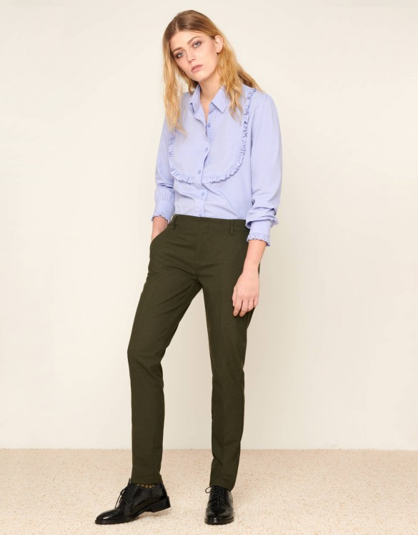 Cigarette Trousers Lizzy Fancy - GREEN BERRY