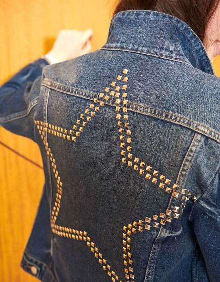 Veste en jean Vahia Studs - DNM BLUE