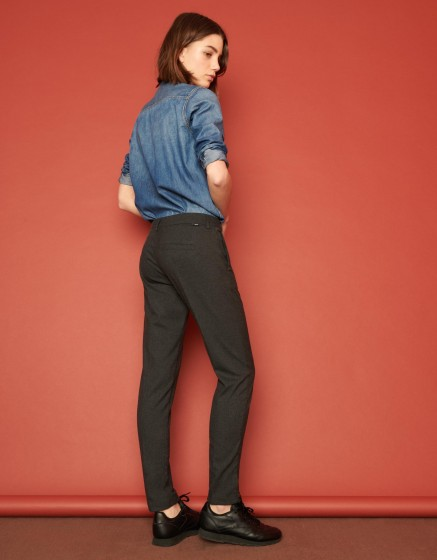 Pantalon cigarette Lizzy Fancy - CHEVRON