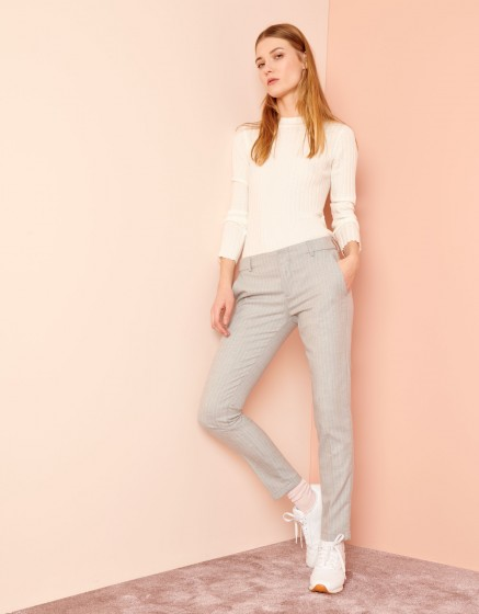 Pantalon cigarette Lizzy Fancy - POWDER