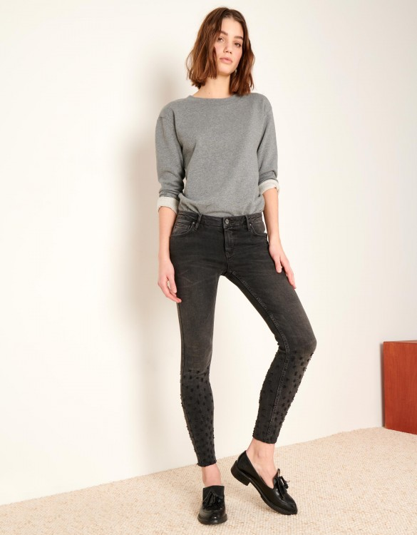 Skinny cropped jean Lily Destroys - DNM BL-13