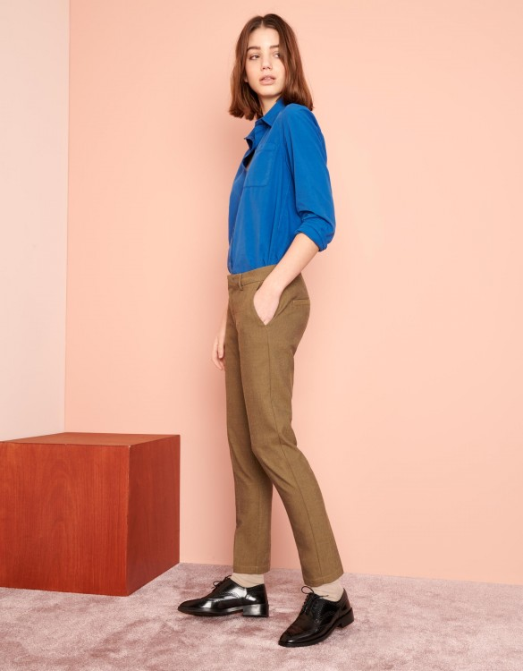 Pantalon cigarette Lizzy Fancy - TWILL GREGE