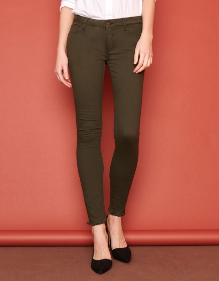 Pantalon skinny cropped Lily Color - VERT DE CHROME