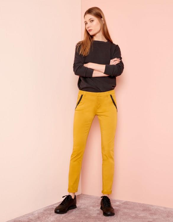 Pantalon chino Sandy Ribbon - DARK HONEY