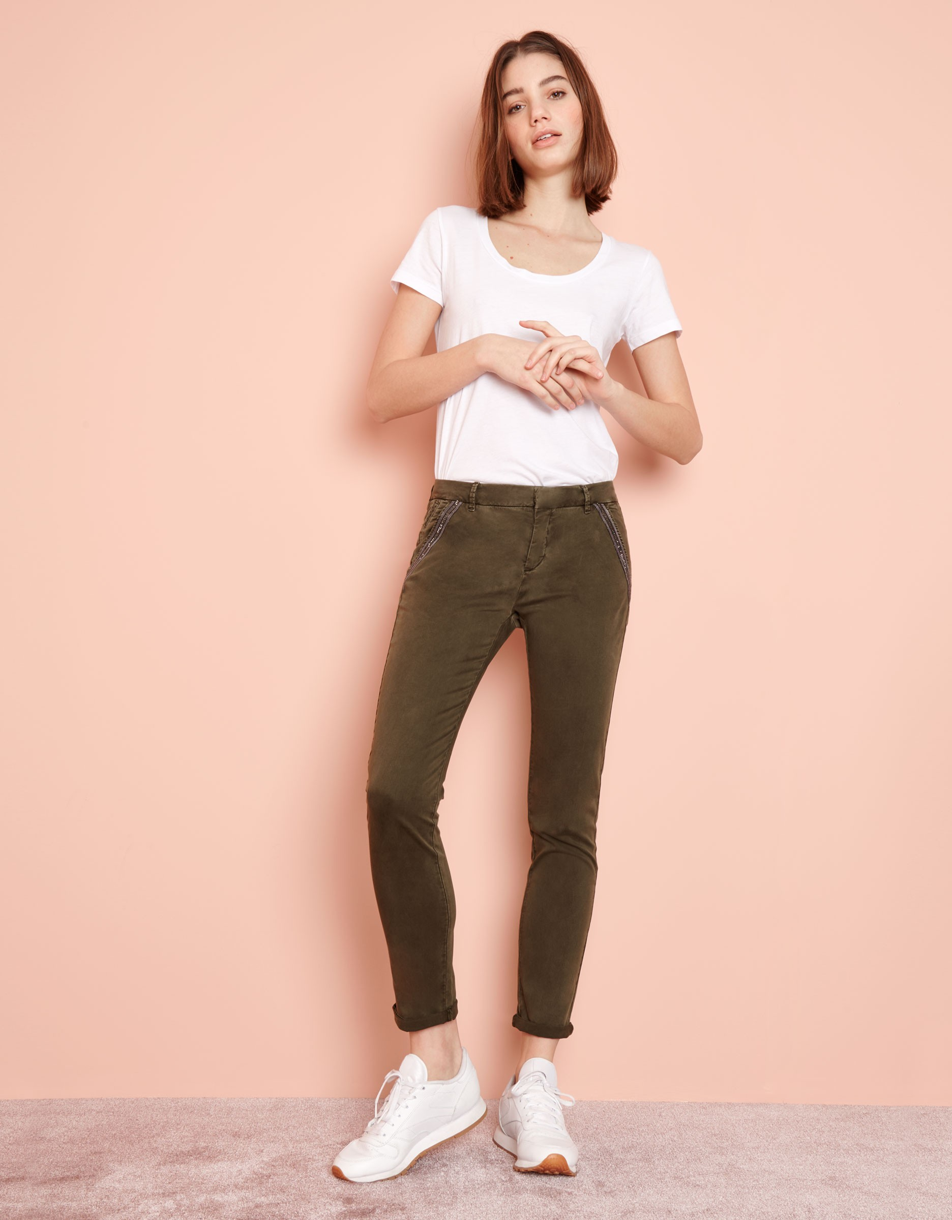 Sandy Dark Pour Pantalon Kaki Femme Chino Ribbon X7RR5n 973bc0bc6c4