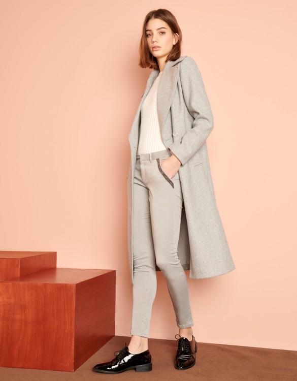 Chino Trousers Sandy Ribbon - GRIS PERLE