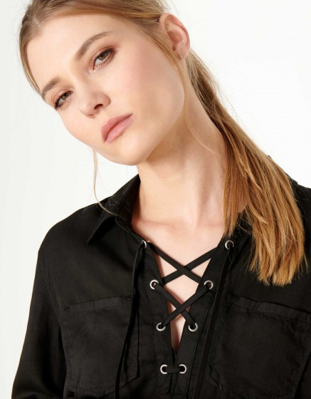 Chemise Caty Color - BLACK
