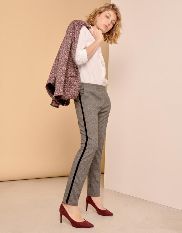 Street trousers Elvin Fancy - STEEL CHEVRON