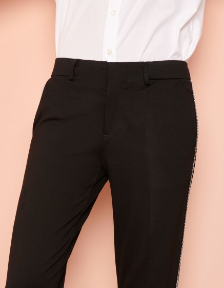 Pantalon cigarette Lizzy Herring - BLACK