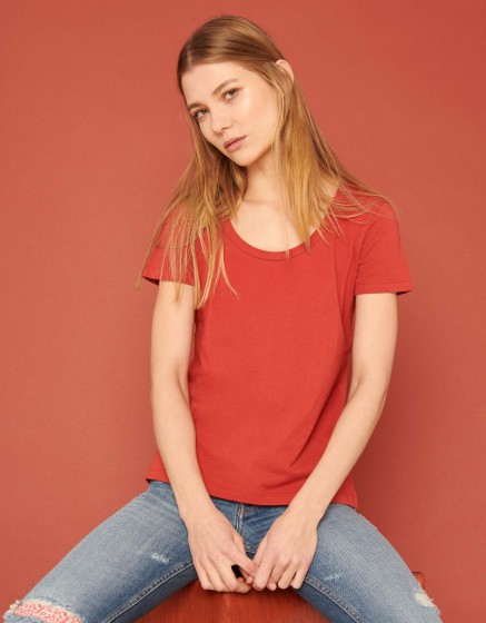 T-shirt Ted - BURNT RED
