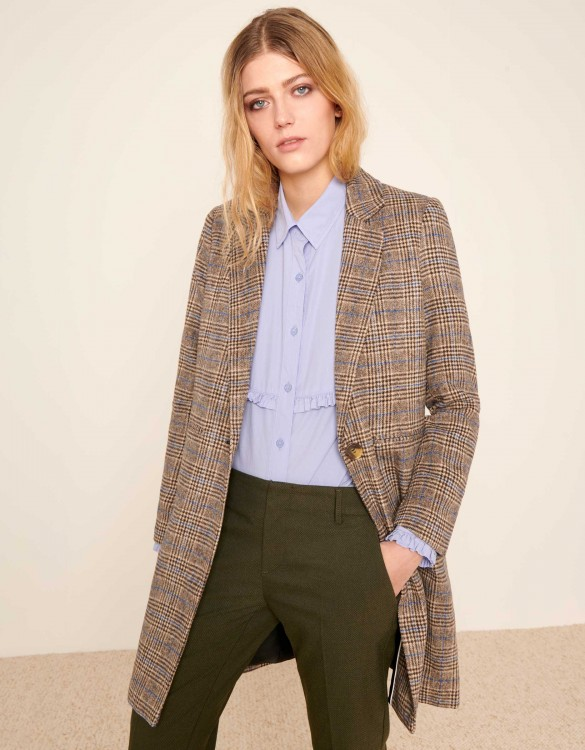 Coat Marco Fancy - BEIGE TARTAN