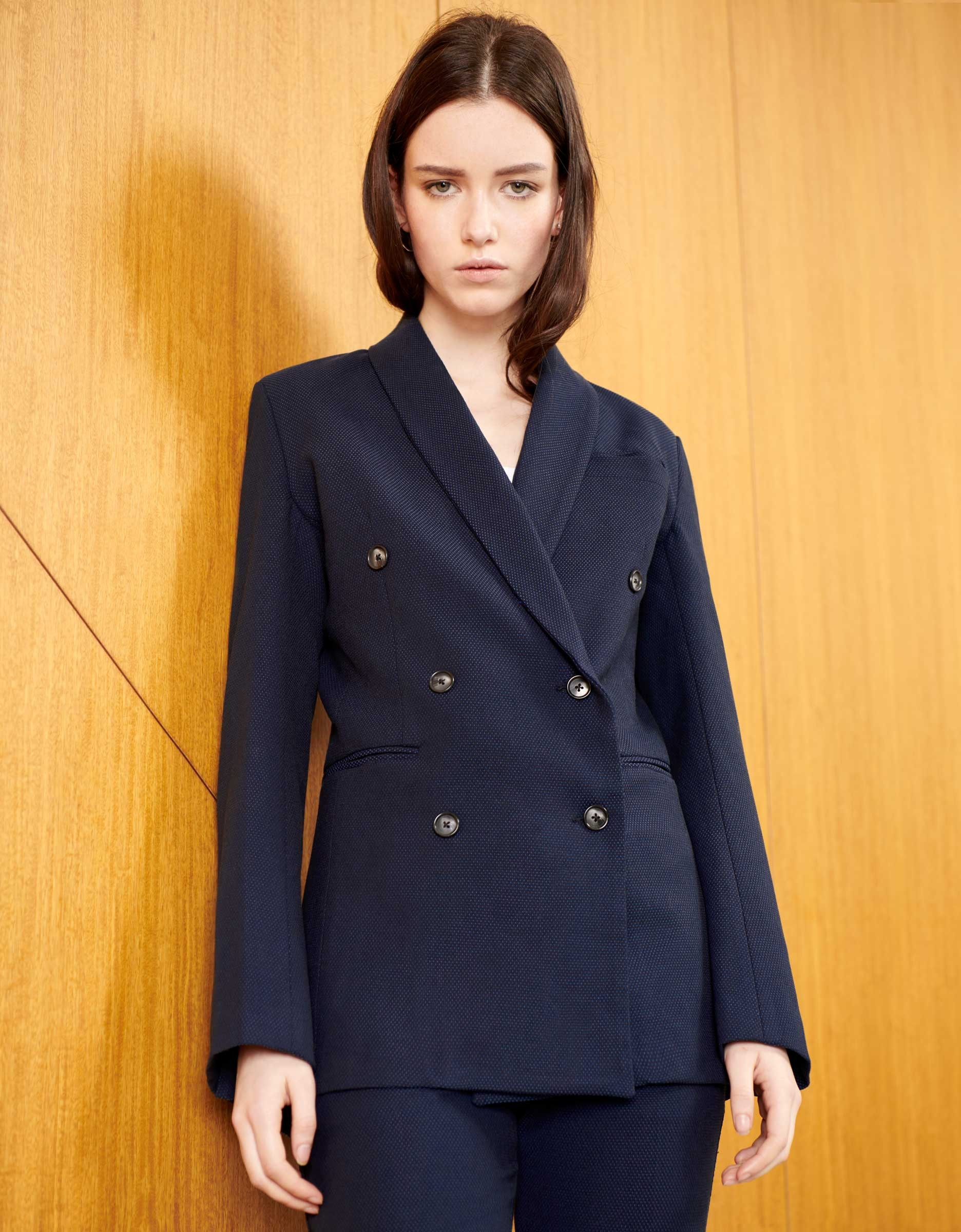 Veste blazer basil fancy - navy dots
