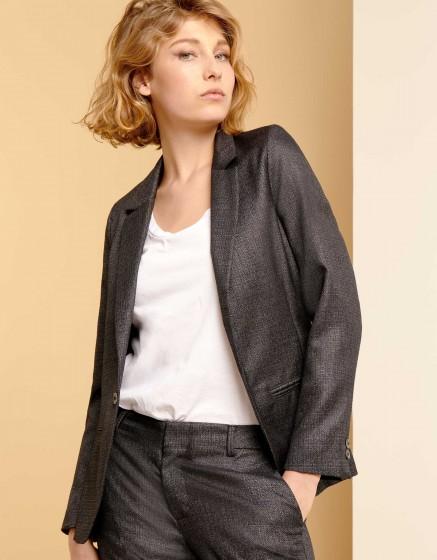 Blazer jacket Blair Fancy - METALLIC BLACK