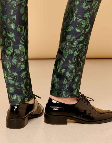 Cigarette Trousers Lizzy Fancy - PEACOCK
