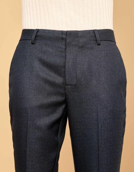 Pantalon cigarette Lizzy Fancy - METALLIC BLUE