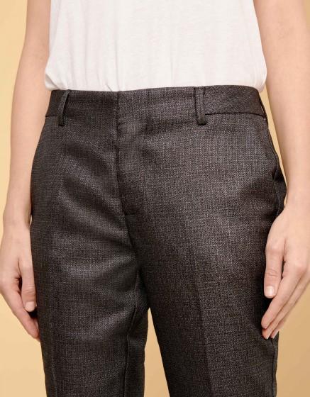 Cigarette Trousers Lizzy Fancy - METALLIC BLACK