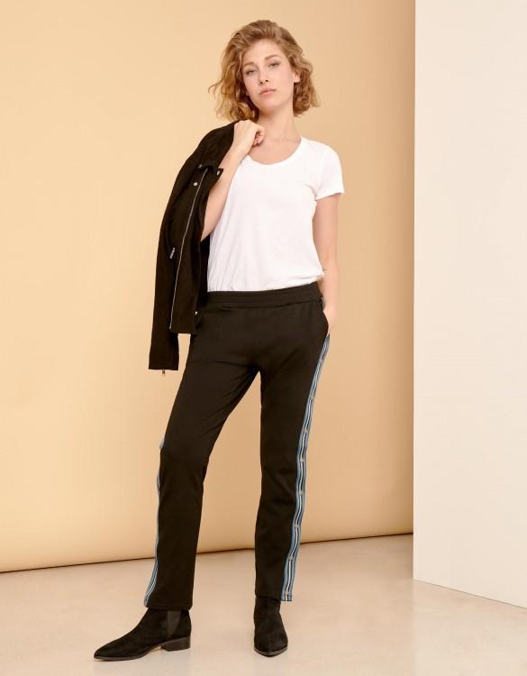 Street trousers Emile - BLACK