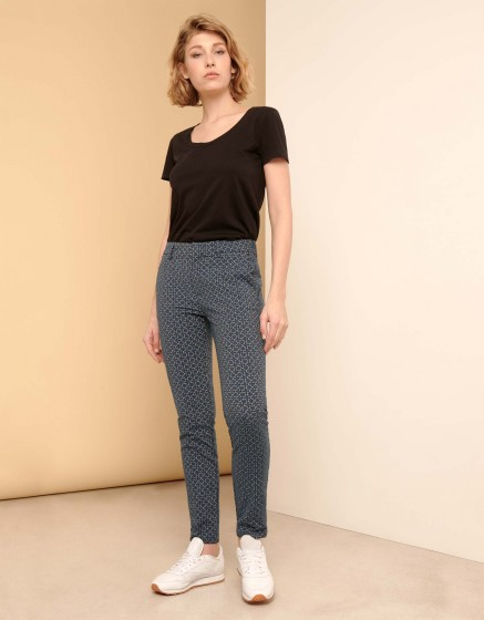 Pantalon cigarette Lizzy Fancy - NAVY FLOW