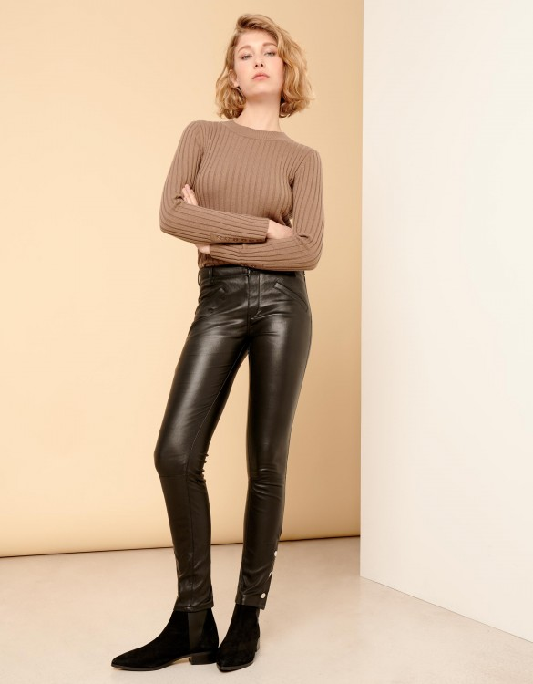 Skinny leather pants Noe Cuir - BLACK