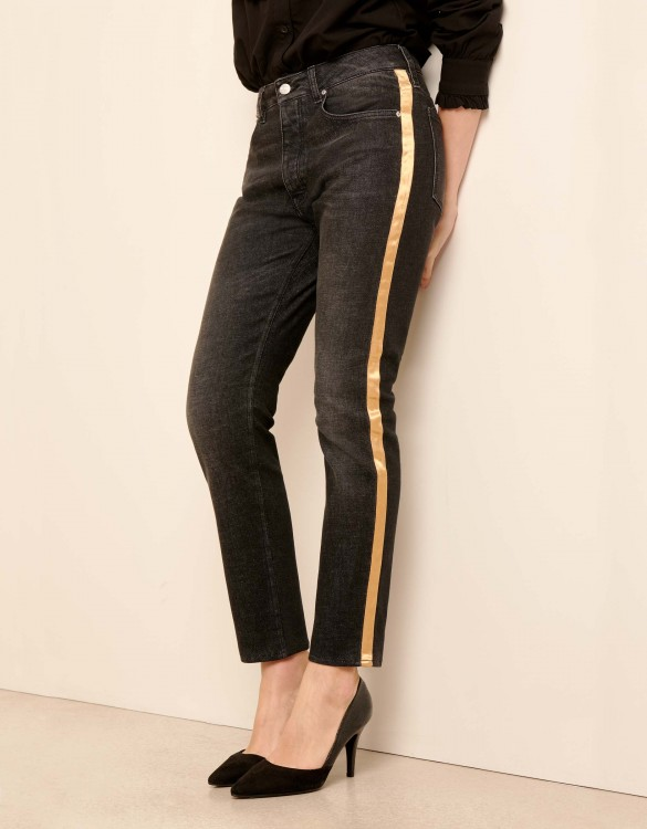 Jean Mom Harlem Herring - GOLD DNM BL-15