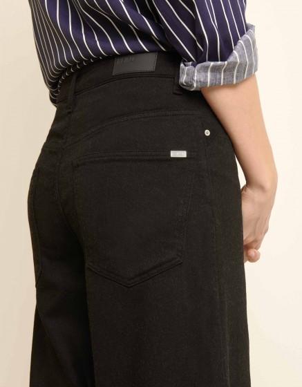 Pantalon wide cropped Pierrick - DNM BLACK