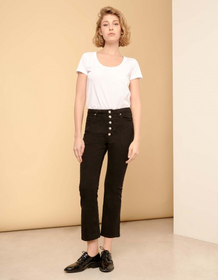 Boxy cropped jean Paulin - DNM BLACK