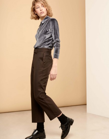 Pantalon straight cropped Luis Fancy - COPPER SCALED