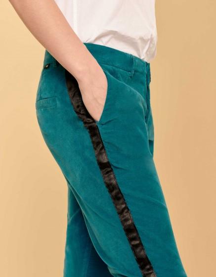 Pantalon cigarette Lizzy Velvet - HERRING WATERFALL